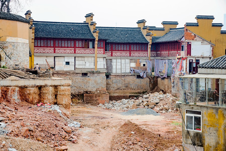 demolished: Ancient temple being rebuilt in China