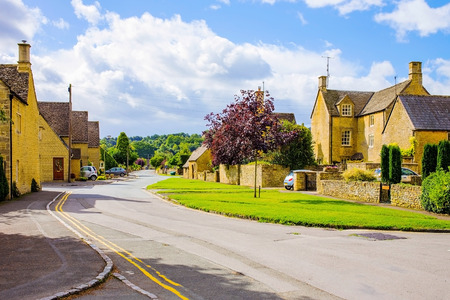 cotswold: Old English village in Cotswold area United Kingdom