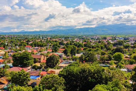 Woonwijk in Clark economische Angeles stad in de Filippijnen Stockfoto