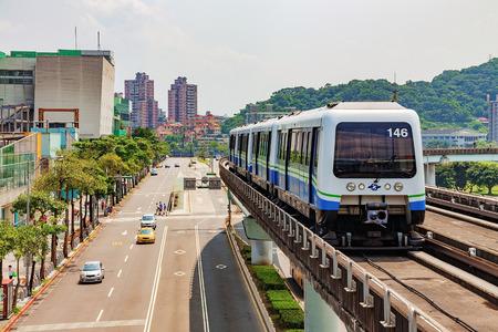 Taipei overground metro and sky train