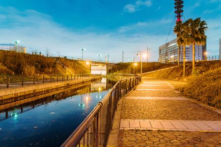 outskirts: Canal in Osaka city outskirts