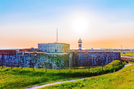 southsea: Southsea castle at sunset in portsmouth