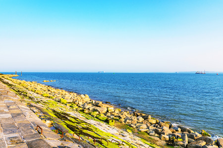 Portsmouth seafront in the summer on a calm sunny day