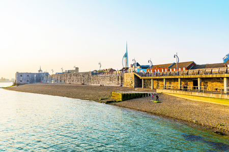 southsea: Portsmouth beach and seafront area Editorial