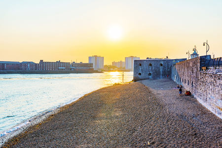 southsea: Sunset at Portsmouth seafront area
