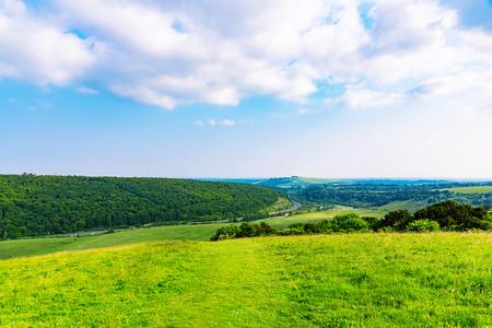 farming area: rural farming area in the british countryside