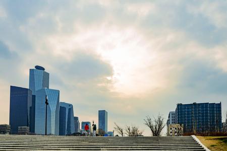 financial district: Yeouido financial district riverside park