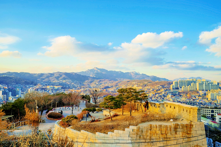 View of Naksan Park in Seoul
