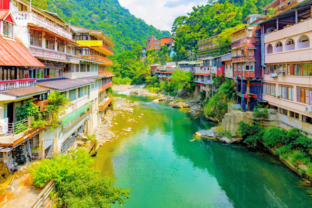 Wulai hot spring village in Taiwan