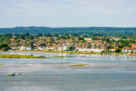 hengistbury: View of Christchurch seaside town