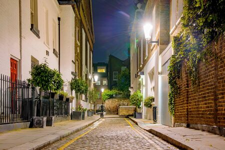 chelsea: Residential area at night in Chelsea
