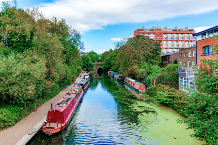 View of Regents canal in Kings Cross