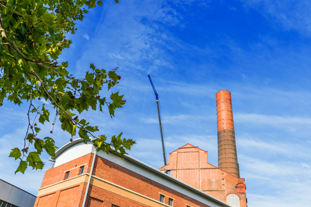 close up chimney: Battersea power station detail photo on a sunny day