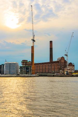 battersea: Battersea power station during sunset