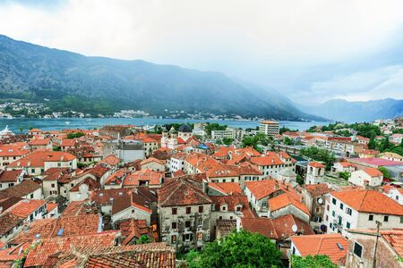 View of Kotor old town medieval architecture