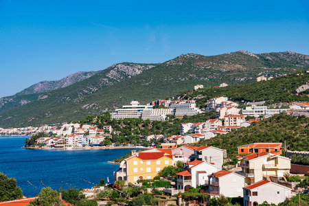 View of Neum mediterranean seaside town in Bosnia