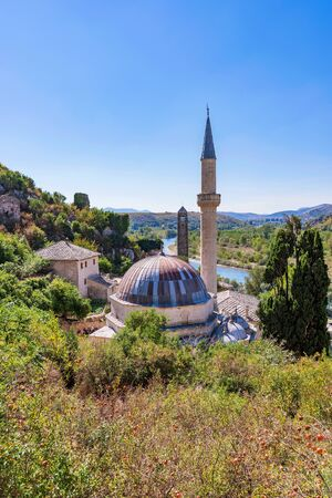 View of old town Mosque in Bosnia and Herzegovina