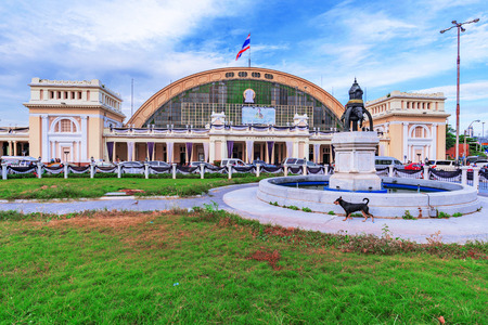 domestically: BANGKOK, THAILAND - FEBRUARY 03: This is Hua Lamphong railway station. It is the main railway station in Bangkok where many people come to travel domestically to other parts of Thailand on February 03, 2017 in Bangkok Editorial