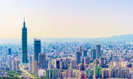 Panorama of Taipei downtown area