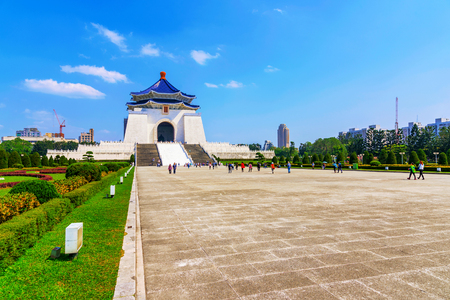 Chiang Kai Shek memorial hall main building and path