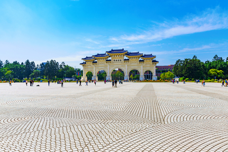 Chiang Kai shek memorial hall entrance and main square