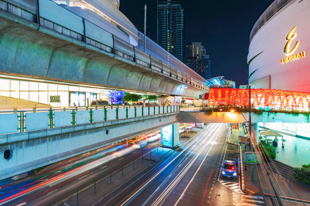 emporium: BANGKOK, THAILAND - FEBRUARY 05: This is the Emporium Shopping mall and Phrom Phong sky train station which is connected to the mall February 05, 2017 in Bangkok Editorial