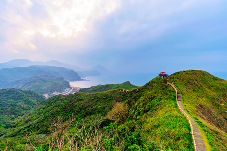 View of mountains and nature on the east coast of Taiwan Stock Photo - 75968830