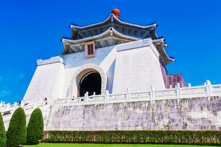 Architecture of Chiang Kai Shek memorial hall Stock Photo
