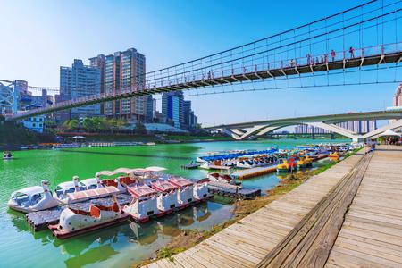 Riverside area of Bitan in Taipei
