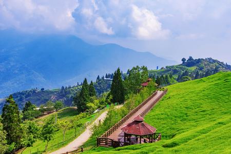 View of Qingjing farm nature and pavilion Stock Photo - 78694641