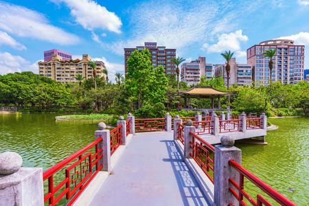 Sun Yat-Sen memorial hall park in Taipei