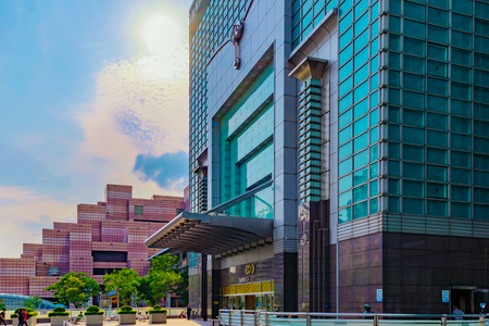TAIPEI, TAIWAN - MAY 31: This is the entrance to the Taipei 101 mall which is a popular luxury shopping mall in the Xinyi financial district on May 31, 2017 in Taipei Editorial