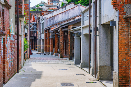 TAIPEI, TAIWAN - JUNE 26: Street view of Bopiliao historical block, a famous area which people visit to see traditional Chinese architecture as it was in the 18th century on June 26, 2017 in Taipei Editorial
