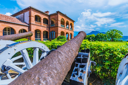 Fort San Domingo cannons and traditional architecture