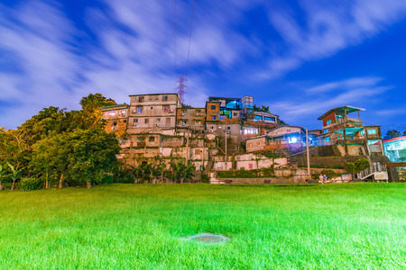 residence: Night view of Treasure hill old architecture in Taipei