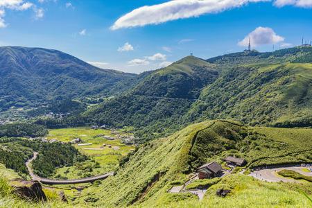 paisaje rural del parque nacional yangmingshan en taiwán