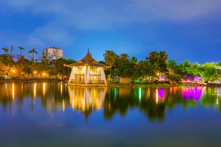 Taichung park lake night view 写真素材