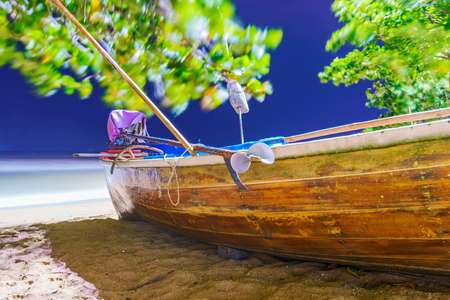 Fishing boat at night in Thailand