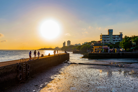 Scenic view of Tamsui during sunset in Taiwan