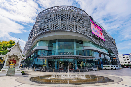 CHIANG MAI, THAILAND - JULY 25: This is Maya shopping mall a popular luxury shopping mall in Chiang Mai on July 25, 2017 in Chiang Mai