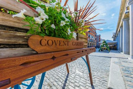 Covent Garden on a sunny day in London Stock Photo