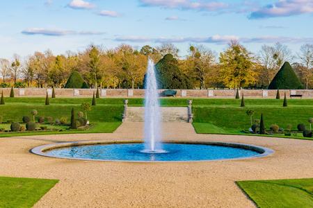 Traditional Royal gardens of Hampton Court Palace