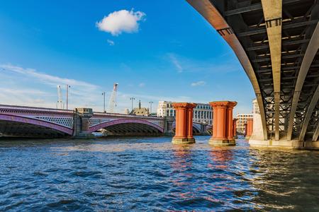 Blackfriars bridge on the River Thames in London Stock Photo