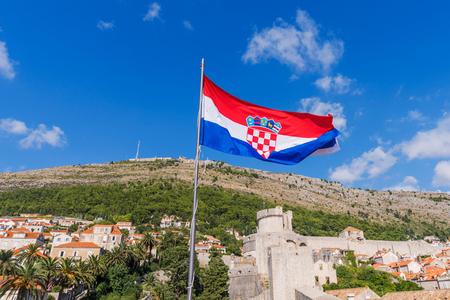 Croatian national Flag in Dubrovnik old town