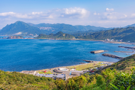 View of Badouzi coastal park in Keelung Stock Photo - 94267032