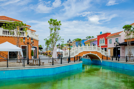 HUA HIN, THAILAND - AUGUST 22: This is Venezia village a shopping village and tourist attraction which was made to look like Venice on August 22, 2013 in Hua Hin Editorial