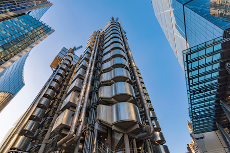 LONDON, UNITED KINGDOM - OCTOBER 26: City of London modern architecture and high rise buildings on October 26, 2017 in London Editorial