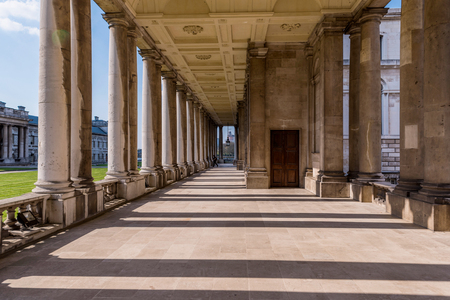 Traditional architecture of the Old Royal Naval College in Greenwich, UK