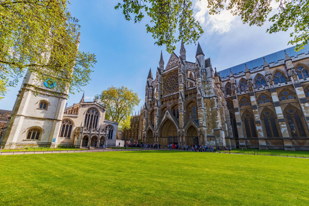 LONDON, UNITED KINGDOM - MAY 04: This is Westminster Abbey an old historic Church and famous travel destination on May 04, 2018 in London