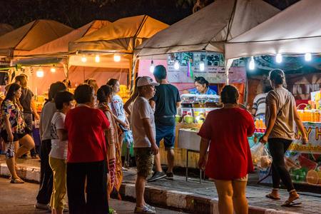 PATTAYA, THAILAND - JULY 07: This is Thepprasit road night market, a popular travel destination in Pattaya on July 07, 2018 in Pattaya